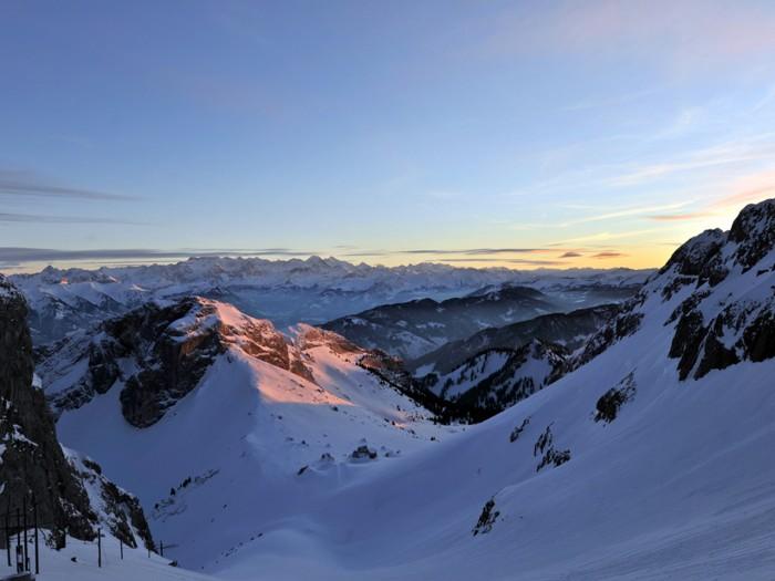 Winterzauber auf 2132 Meter über Meer